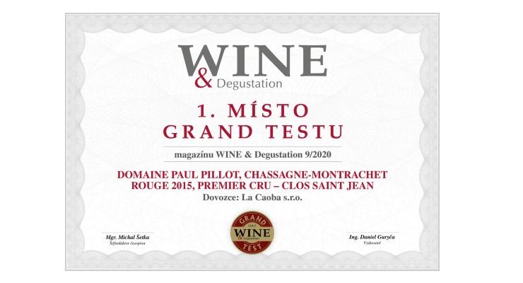 Chassagne Montrachet 1er Cru ROUGE 2015